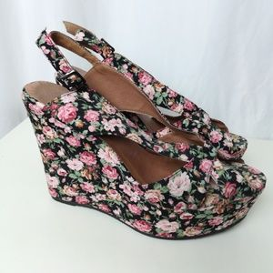 Jeffrey Campbell floral Wedge